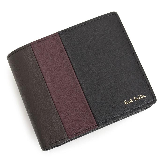 ポールスミス 財布 二つ折り財布 黒(ブラック) Paul Smith psc464-10 メンズ 紳士