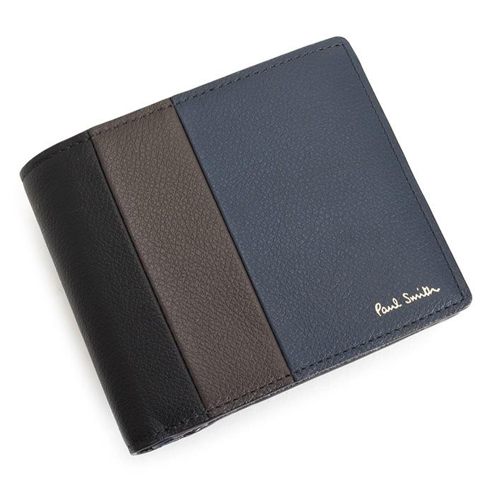 80f732183af6 psc464-30 ポールスミス バッグ メンズ 紳士 展示品箱なし ポールスミス 財布 二つ折り財布 紺(ネイビー) Paul Smith ブランド  大集合!