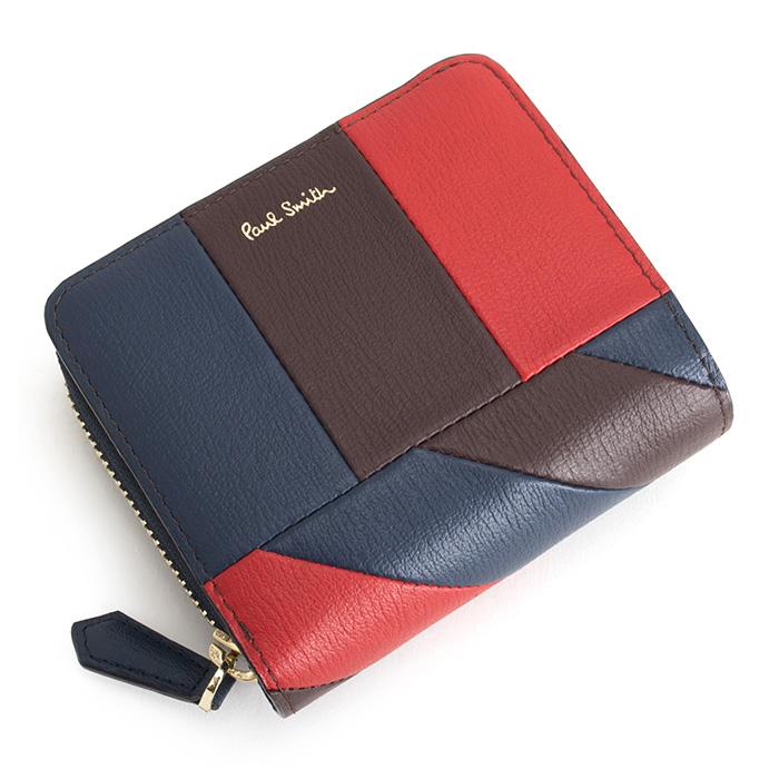 ポールスミス 財布 二つ折り財布 ラウンドファスナー 赤(レッド) Paul Smith psc473-20 メンズ 紳士