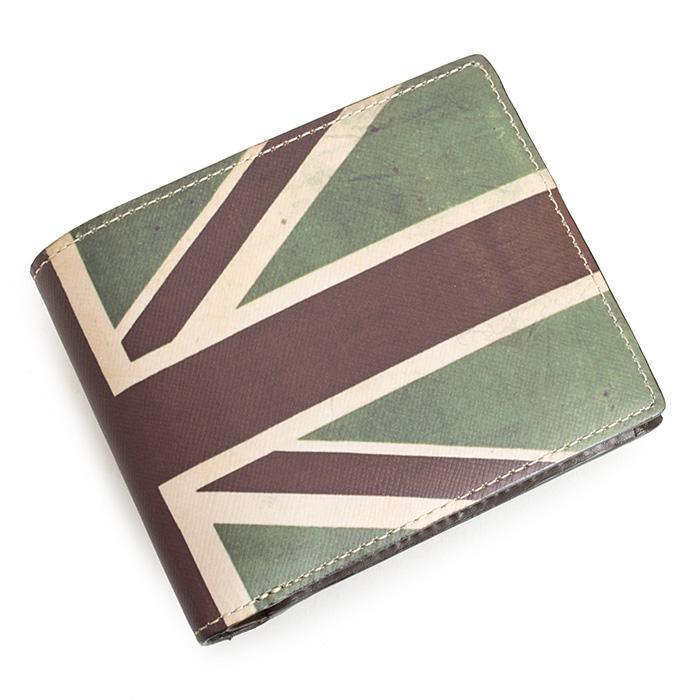 ポールスミス 財布 二つ折り財布 カーキ Paul Smith psk670-54 メンズ 紳士