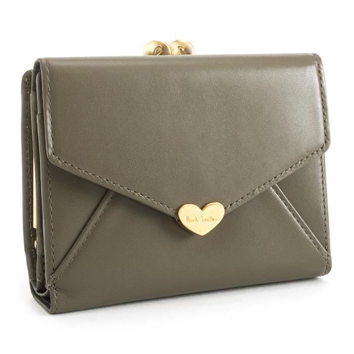 ポールスミス 財布 二つ折り財布 がま口財布 トープ Paul Smith pwa004-13 レディース 婦人