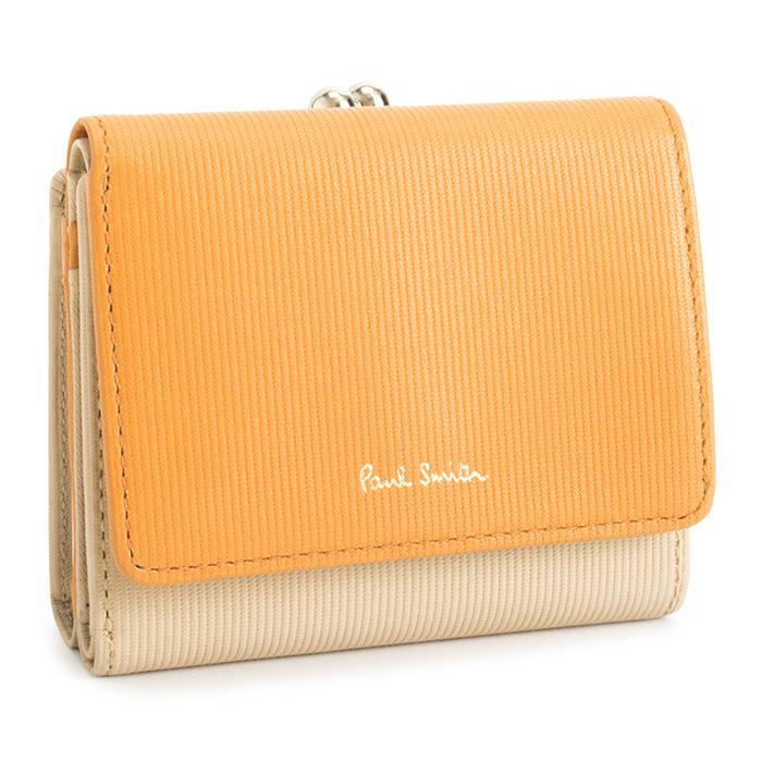 ポールスミス 財布 三つ折り財布 がま口財布 ベージュ Paul Smith pwd116-90 レディース 婦人