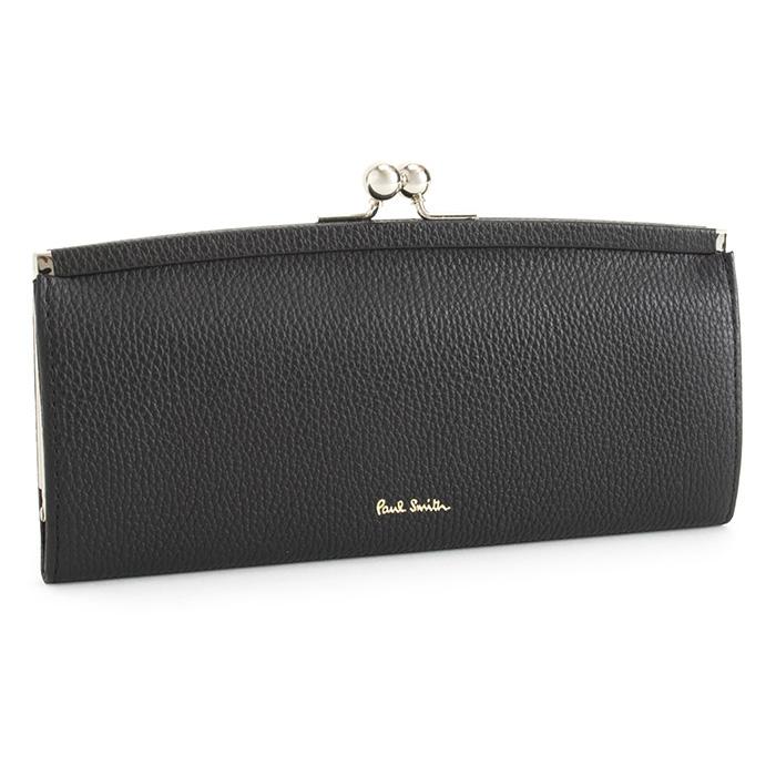 ポールスミス 財布 長財布 がま口財布 黒(ブラック) Paul Smith pwd235-10 レディース 婦人