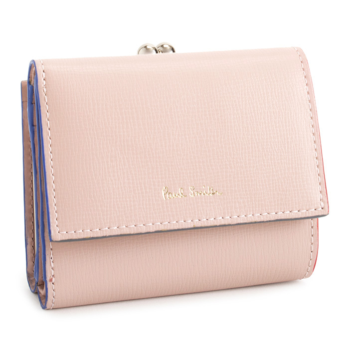 ポールスミス 財布 三つ折り財布 がま口財布 ピンク Paul Smith pwd274-24 レディース 婦人