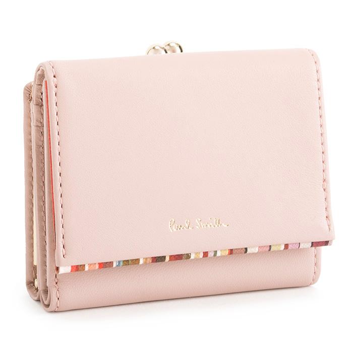 ポールスミス 財布 三つ折り財布 がま口財布 ピンク Paul Smith pwd544-24 レディース 婦人