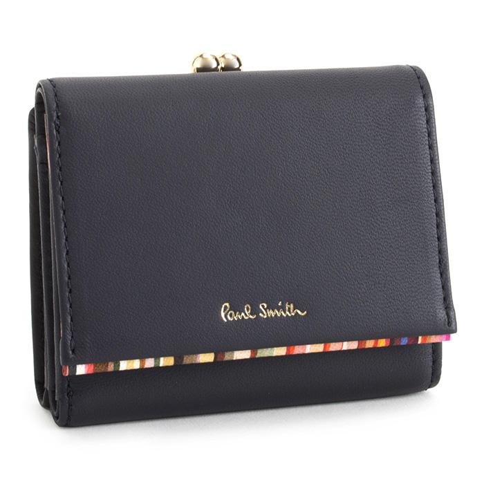 ポールスミス 財布 三つ折り財布 がま口財布 紺(ネイビー) Paul Smith pwd544-30 レディース 婦人