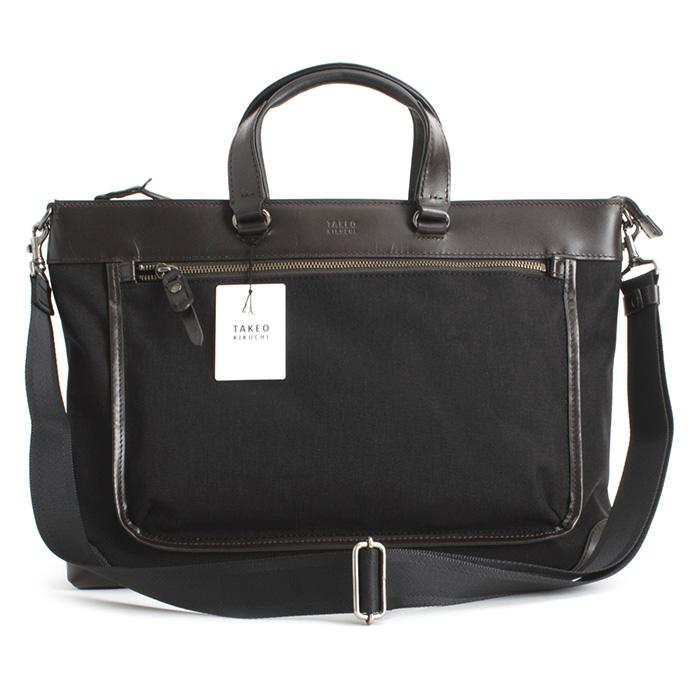 <クーポン配布中>タケオキクチ バッグ ビジネスバッグ 2wayバッグ 黒(ブラック) TAKEOK IKUCHI 172522 メンズ 紳士