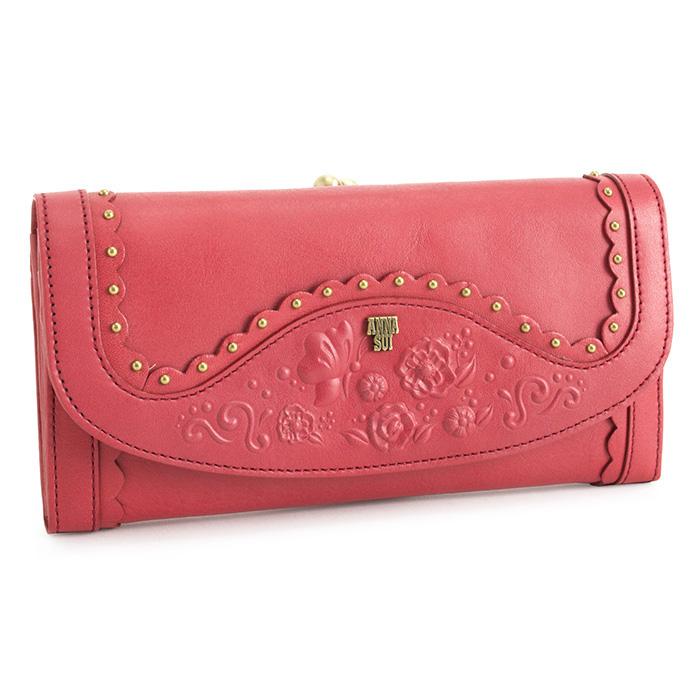 アナスイ 財布 長財布 がま口財布 ピンク ANNA SUI 313450-33 レディース 婦人