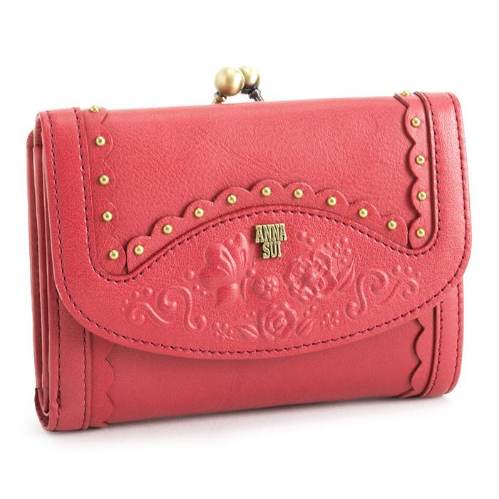 アナスイ 財布 二つ折り財布 がま口財布 ピンク ANNA SUI 313452-33 レディース 婦人
