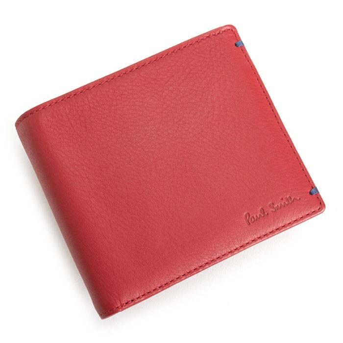 ポールスミス 財布 二つ折り財布 赤(レッド) Paul Smith psk920-20 メンズ 紳士