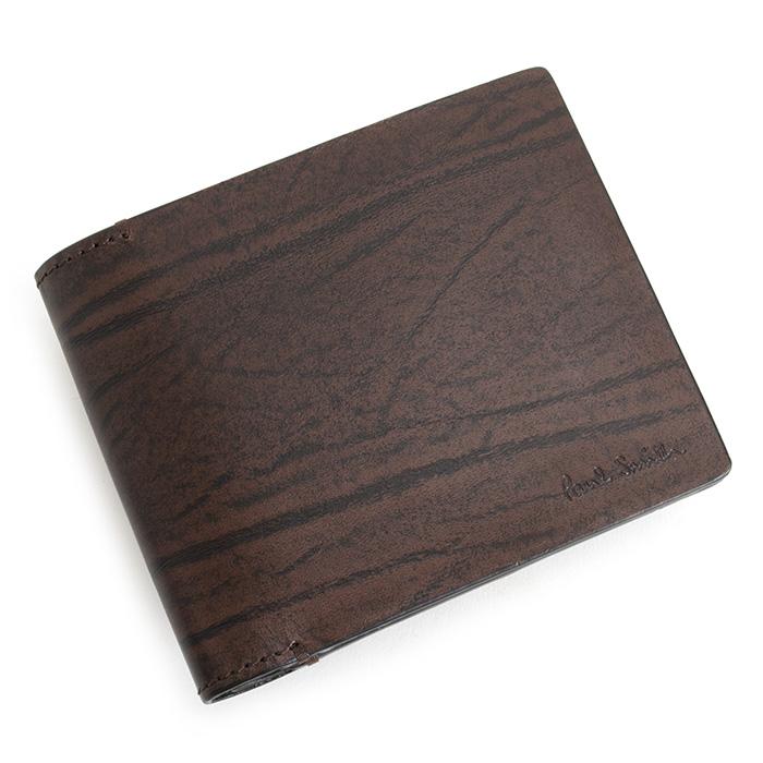 展示品箱なし ポールスミス 財布 二つ折り財布 茶(ブラウン) Paul Smith psu963-70 メンズ 紳士