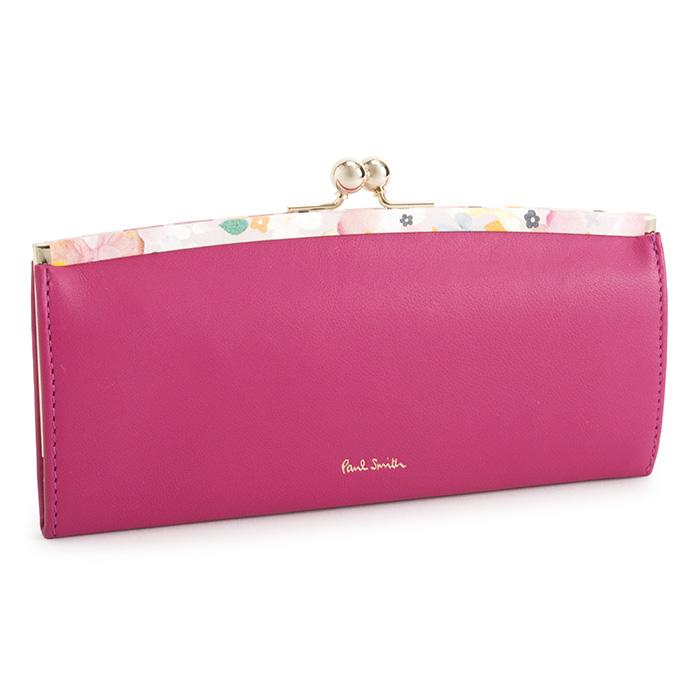 <クーポン配布中>ポールスミス 財布 長財布 がま口財布 ピンク Paul Smith pwd515-24 レディース 婦人