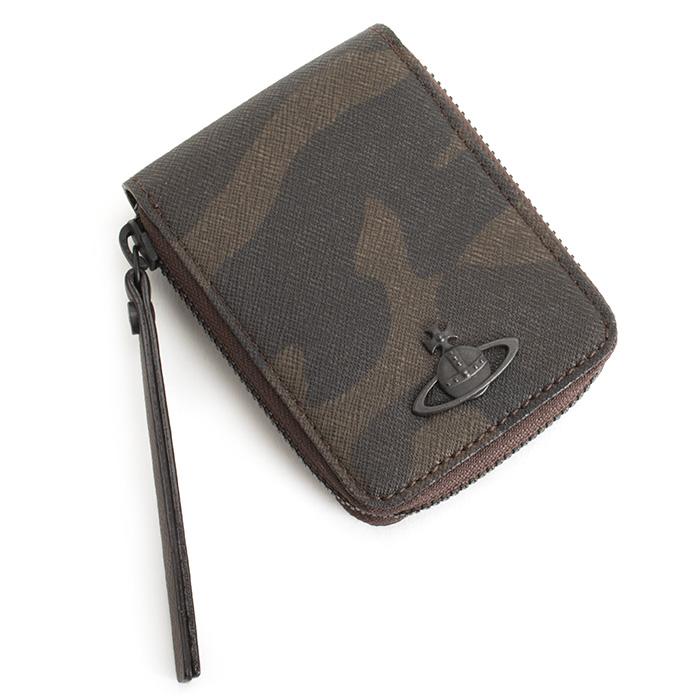 <クーポン配布中>ヴィヴィアンウエストウッド 財布 小銭入れ コインケース ラウンドファスナー BOX型 チョコ Vivienne Westwood ACCESSORIES vwk013-71