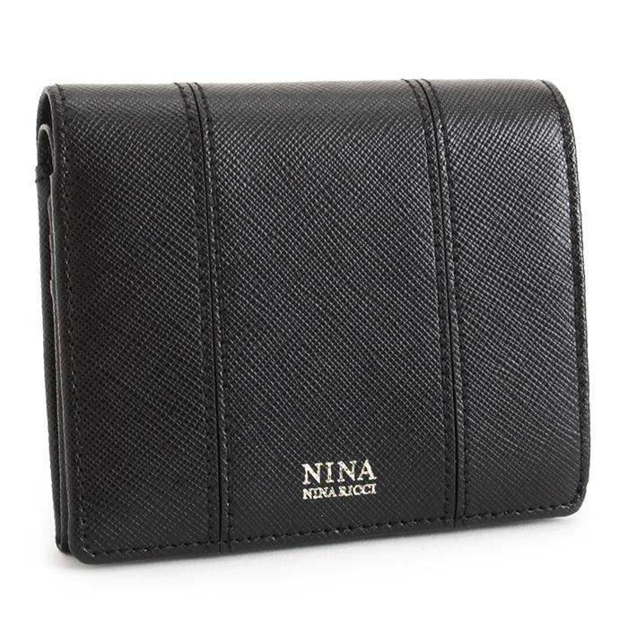 36725be33f3546 ニナリッチ財布二つ折り財布黒(ブラック)NINARICCI0353557-1010レディース婦人