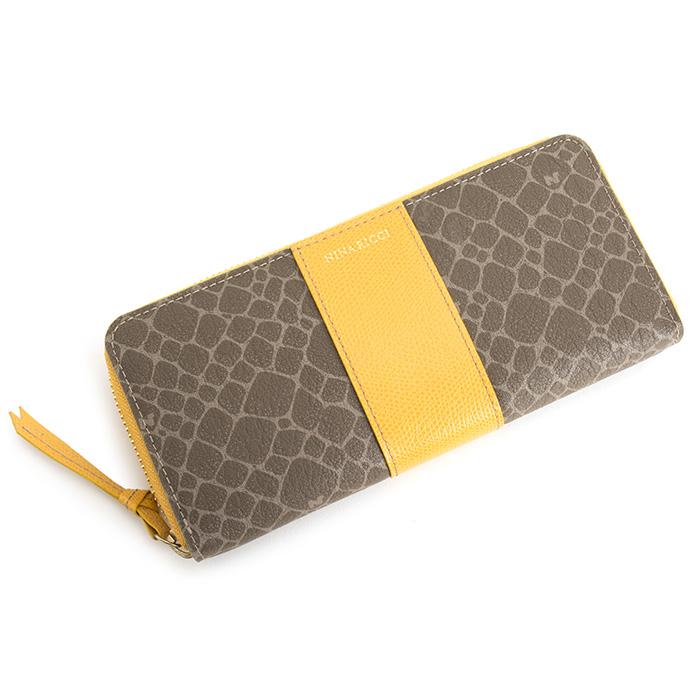 展示品箱なし ニナリッチ 財布 長財布 ラウンドファスナー 黄色(イエロー) NINA RICCI 0858704-0060 レディース 婦人