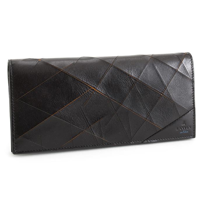 <クーポン配布中>ランバンオンブルー 財布 長財布 黒(ブラック/オレンジ) LANVIN en Bleu 558603 メンズ 紳士