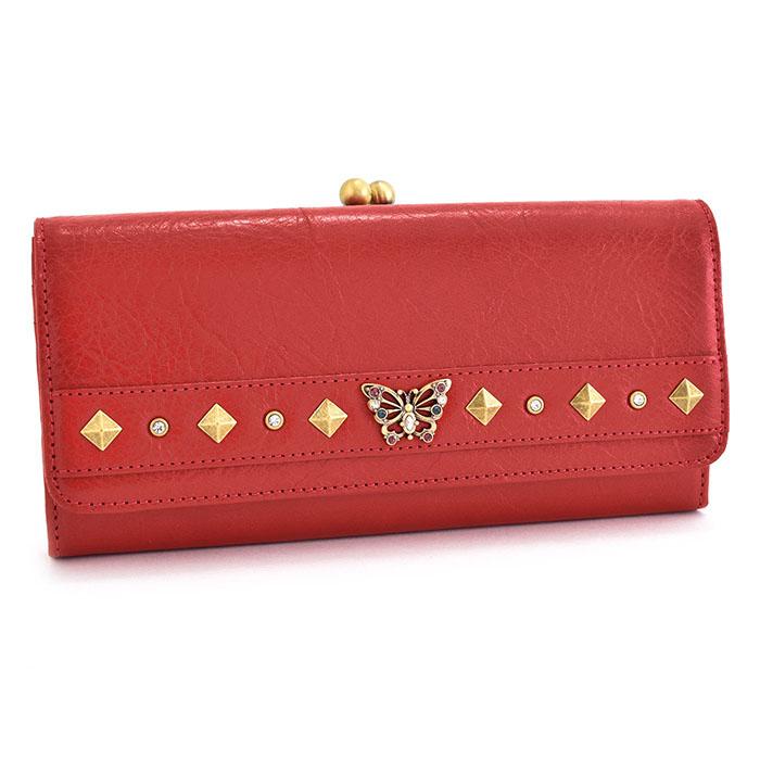 展示品箱なし アナスイ 財布 長財布 がま口財布 赤(レッド) ANNA SUI 313570-30 レディース 婦人