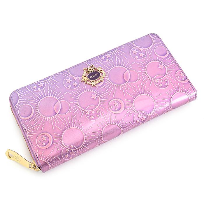 展示品箱なし アナスイ 財布 長財布 ラウンドファスナー 紫(パープル) ANNA SUI 313581-92 レディース 婦人