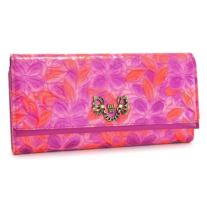 アナスイ 財布 長財布 がま口財布 ピンク ANNA SUI 313880-30 レディース 婦人
