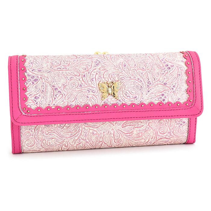 <クーポン配布中>アナスイ 財布 長財布 がま口財布 ピンクパープル ANNA SUI 314291-92 レディース 婦人