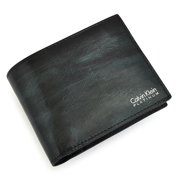 <クーポン配布中>カルバンクラインプラティナム 財布 二つ折り財布 紺(ネイビー) CalvinKlein PLATINUM 816623 メンズ 紳士