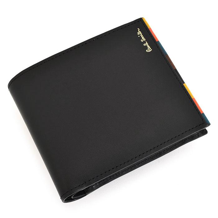 ポールスミス 財布 二つ折り財布 黒(ブラック) Paul Smith psc654-10 メンズ 紳士