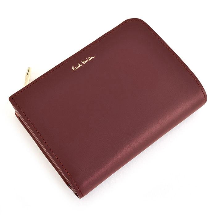 ポールスミス 財布 二つ折り財布 L字ファスナー 赤(レッド) Paul Smith psc824-20 メンズ 紳士