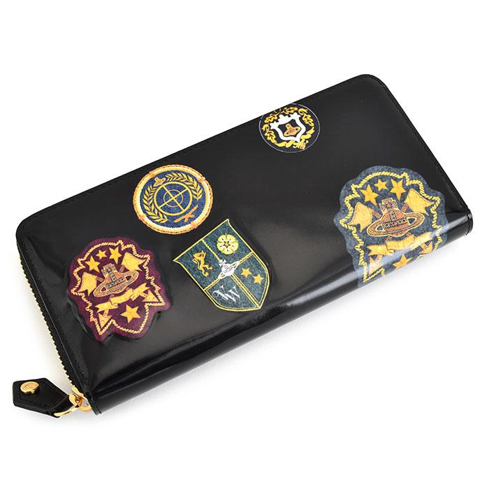 ヴィヴィアンウエストウッド 財布 長財布 ラウンドファスナー 黒(ブラック) Vivienne Westwood ACCESSORIES vwk351-10