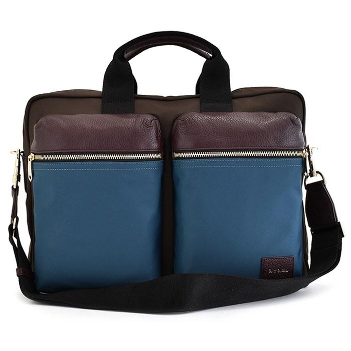 <クーポン配布中>ポールスミス バッグ ビジネスバッグ 2wayバッグ チョコ Paul Smith psn504-71 メンズ 紳士