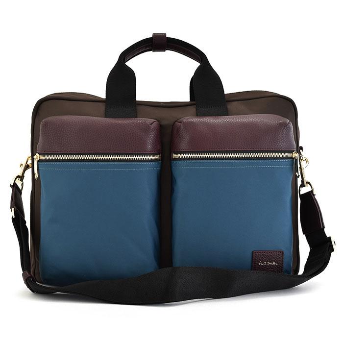 <クーポン配布中>ポールスミス バッグ ビジネスバッグ 3wayバッグ チョコ Paul Smith psn505-71 メンズ 紳士