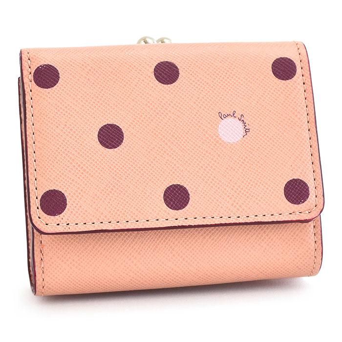 ポールスミス 財布 三つ折り財布 がま口財布 ピンク Paul Smith pwd424-24 レディース 婦人