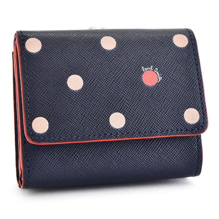 ポールスミス 財布 三つ折り財布 がま口財布 紺(ネイビー) Paul Smith pwd424-30 レディース 婦人