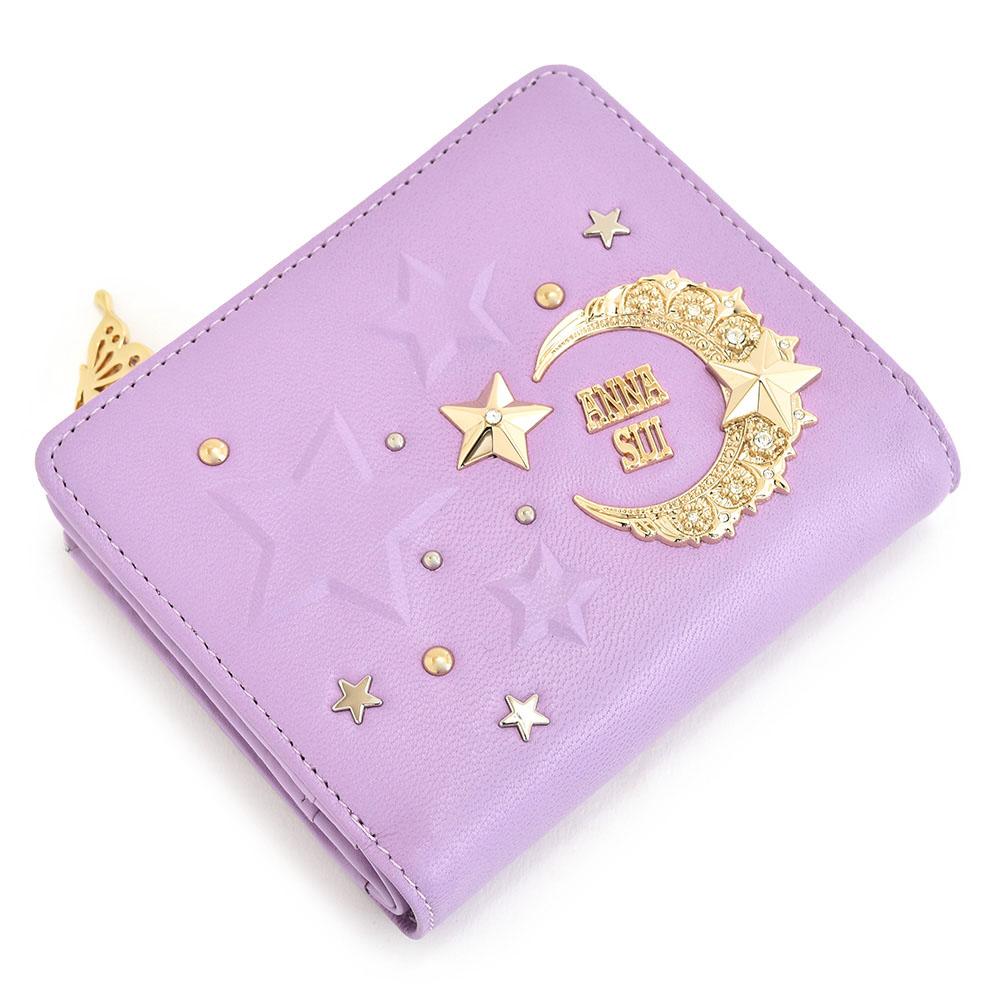 アナスイ 財布 二つ折り財布 L字ファスナー ラベンダー ANNA SUI 312852-92 レディース 婦人