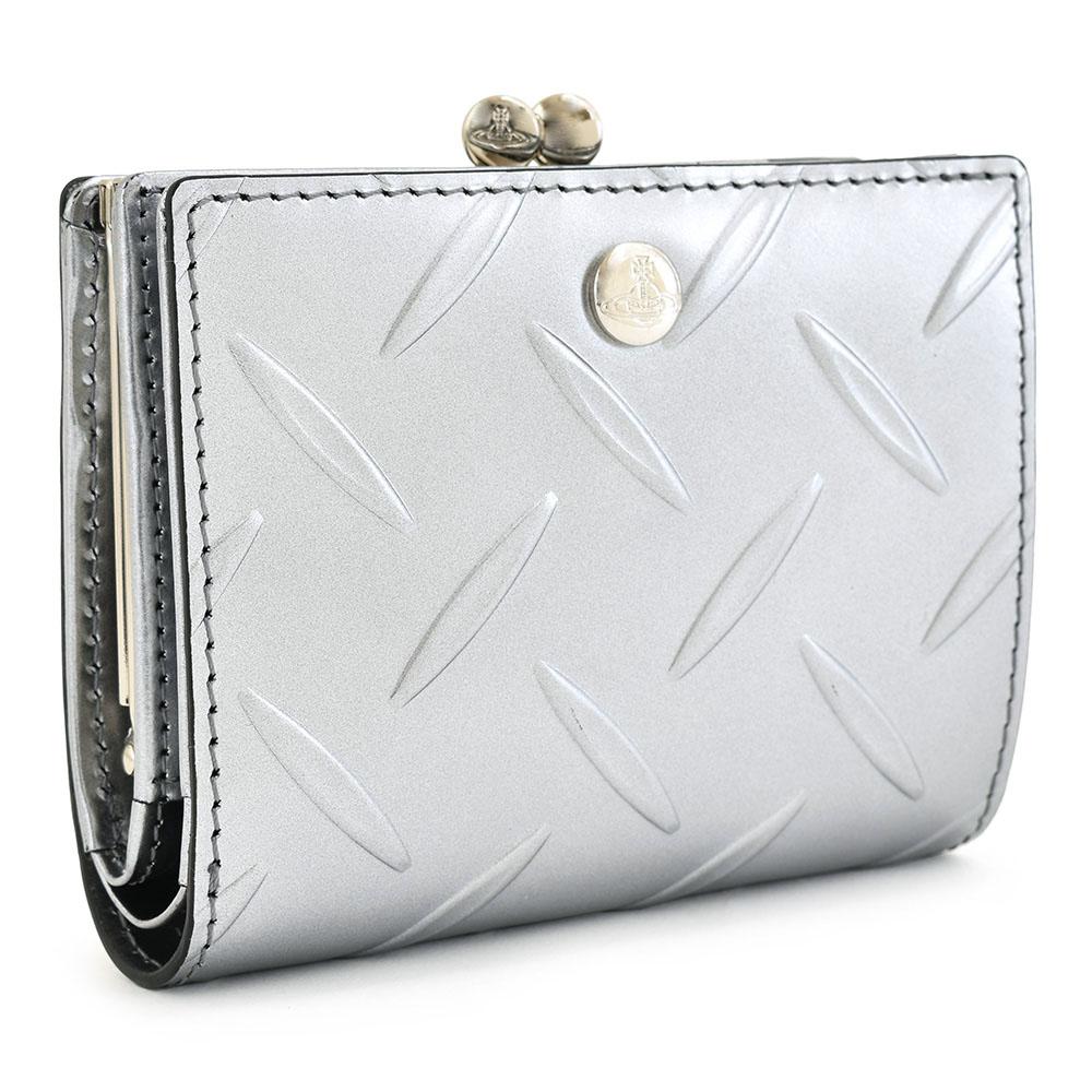 ヴィヴィアンウエストウッド 財布 がま口財布 二つ折り財布 VivienneWestwood ACCESSORIES シルバー 3218au23