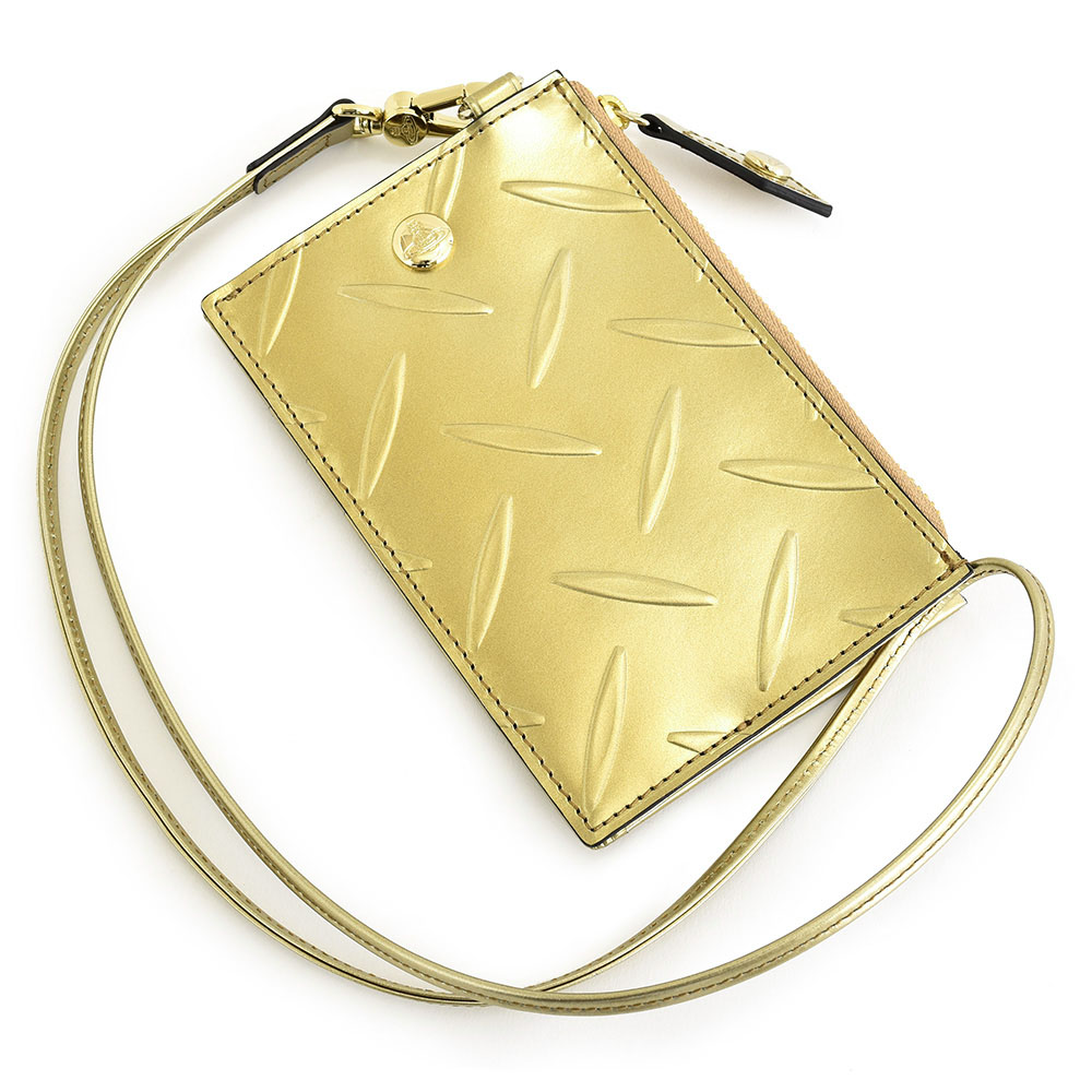 ヴィヴィアンウエストウッド フラグメントケース カードケース コインケース ゴールド Vivienne Westwood ACCESSORIES 3818au82