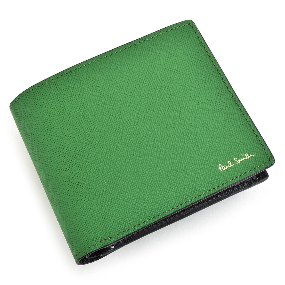 ポールスミス 財布 二つ折り財布 緑(グリーン) Paul Smith psc533-50 メンズ 紳士