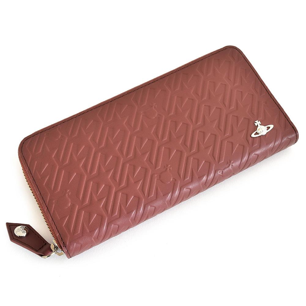 展示品箱なし ヴィヴィアンウエストウッド 財布 長財布 ラウンドファスナー ピンク(くすみのある茶色がかったピンクです。) Vivienne Westwood ACCESSORIES 3118v112