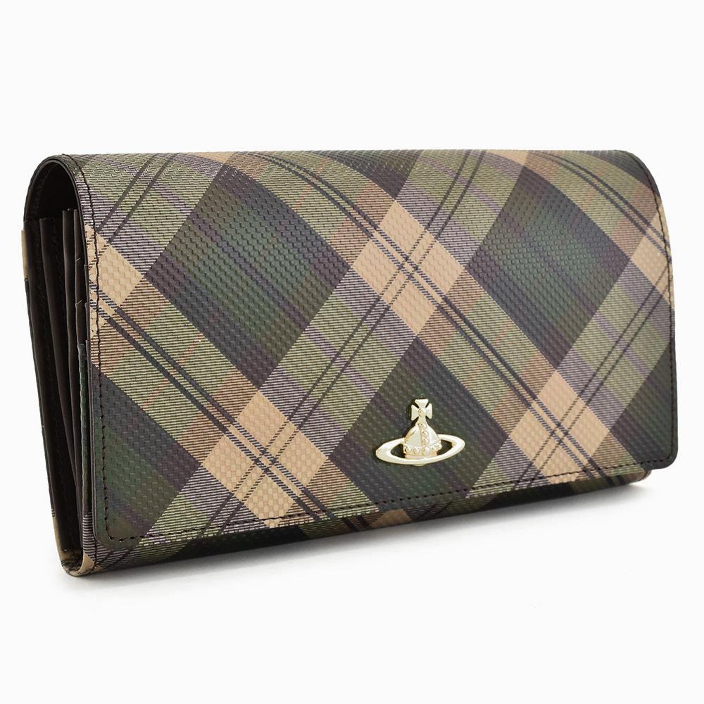 展示品箱なし ヴィヴィアンウエストウッド 財布 長財布 緑系(グリーン) Vivienne Westwood ACCESSORIES 3118w901