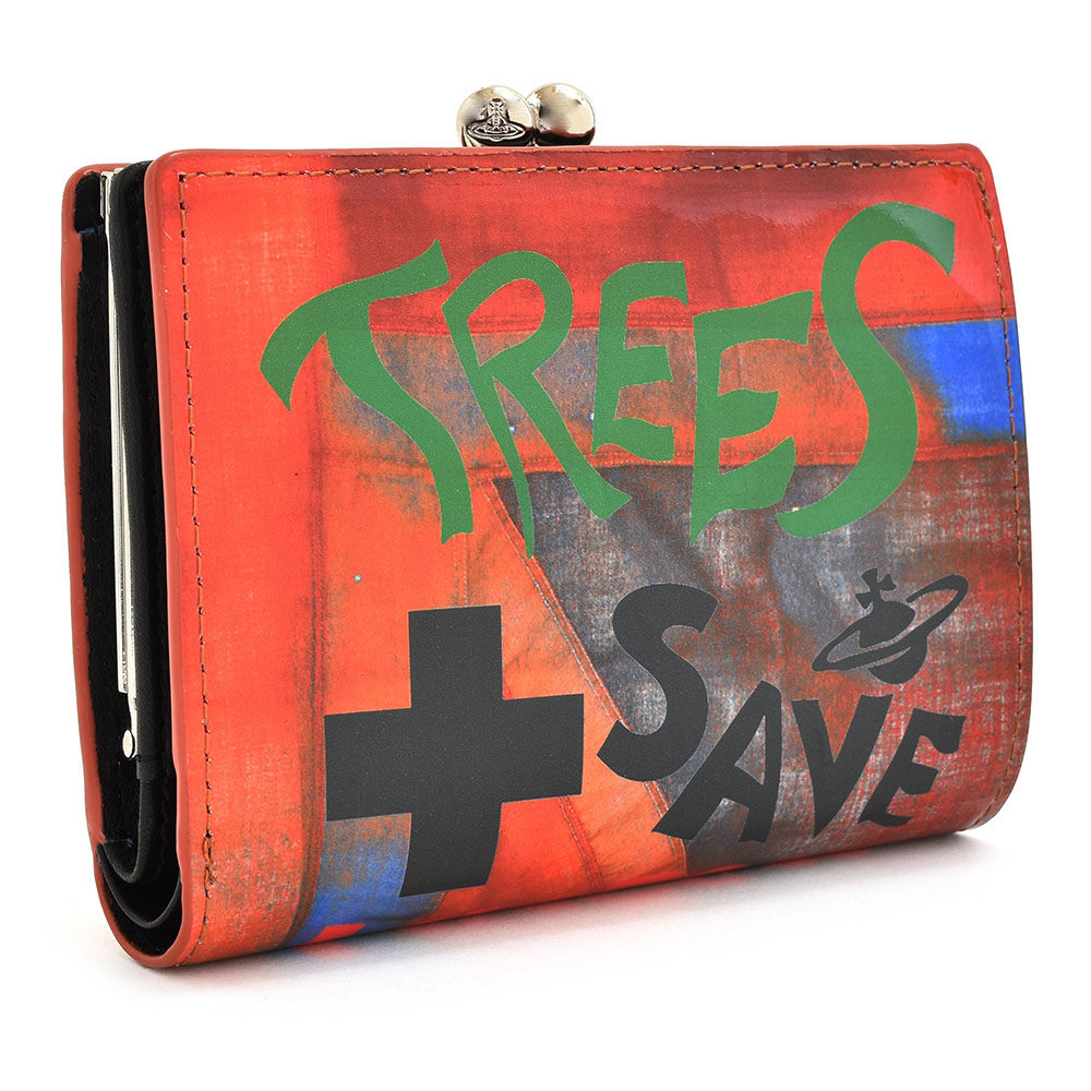 展示品箱なし ヴィヴィアンウエストウッド 財布 二つ折り財布 がま口財布 赤(レッド) Vivienne Westwood ACCESSORIES 3218aj31