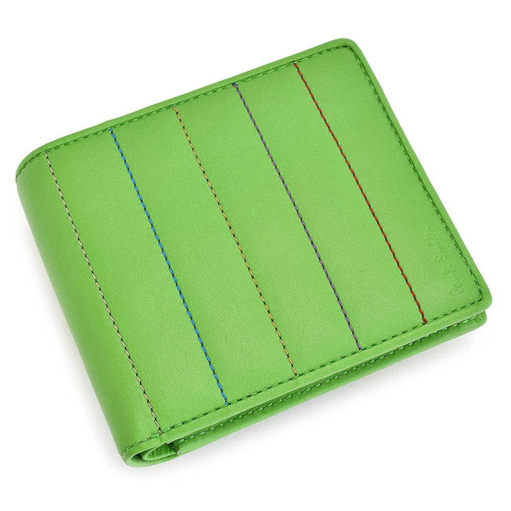 展示品箱なし ポールスミス 財布 二つ折り財布 緑(グリーン) Paul Smith psu033-50 メンズ 紳士