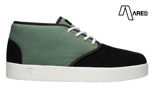 【AREth】BULIT カラー:black/lt.green アース ブリット シューズ 靴 スニーカー スケートボード スケボー SKATEBOARD