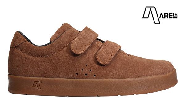 【AREth】I velcro カラー:brown アース アイベルクロ シューズ 靴 スニーカー スケートボード スケボー SKATEBOARD