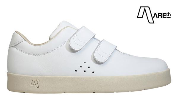 【AREth】I velcro カラー:white leather アース アイベルクロ シューズ 靴 スニーカー スケートボード スケボー SKATEBOARD