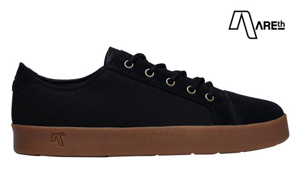 【AREth】LOLL カラー:black gum アース ロウ シューズ 靴 スニーカー スケートボード スケボー SKATEBOARD