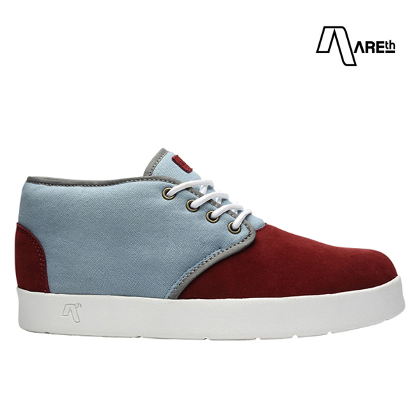 【AREth】BULIT カラー:burgundy & lt.gray アース ブリット シューズ 靴 スニーカー スケートボード スケボー SKATEBOARD