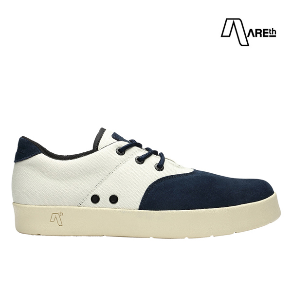 【AREth】PLUG カラー:navy & white アース プラグ シューズ 靴 スニーカー スケートボード スケボー SKATEBOARD