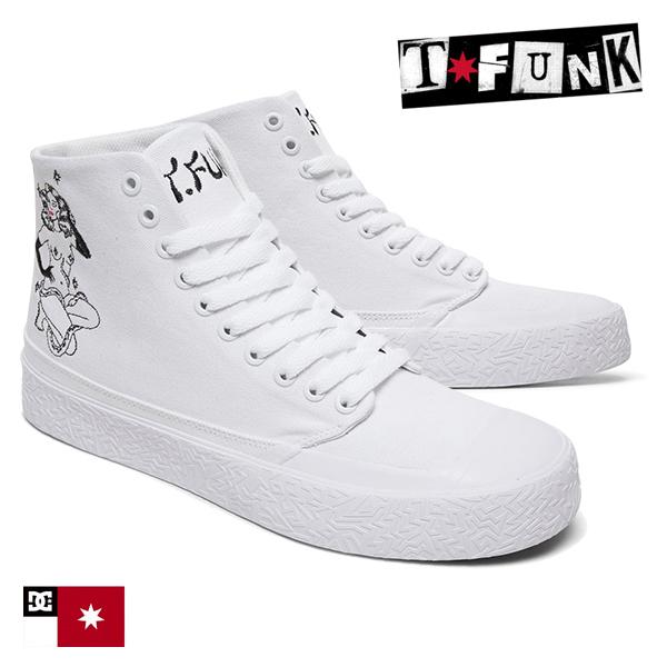 【DC Shoe】T-FUNK HI S × TATI カラー:WBK ディーシー ティーファンク スケートボード スケボーシューズ 靴 スニーカー SKATEBOARD SHOES
