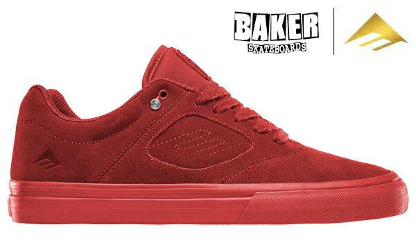【Emerica×BAKER】REYNOLDS 3 G6 VULC Andrew Reynolds Signature Model カラー:red エメリカ レイノルズ スリー ジーシックス バルク スケートボード スケボー SKATEBOARD シューズ 靴 スニーカー