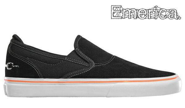 【Emerica×FUNERAL FRENCH】WINO G6 SLIP ON カラー:black 【エメリカ】【スケートボード】【シューズ】