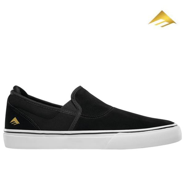 【Emerica】WINO G6 SLIP-ON カラー:black/white/gold エメリカ ワイノ スリッポン スケートボード スケボー SKATEBOARD シューズ 靴 スニーカー